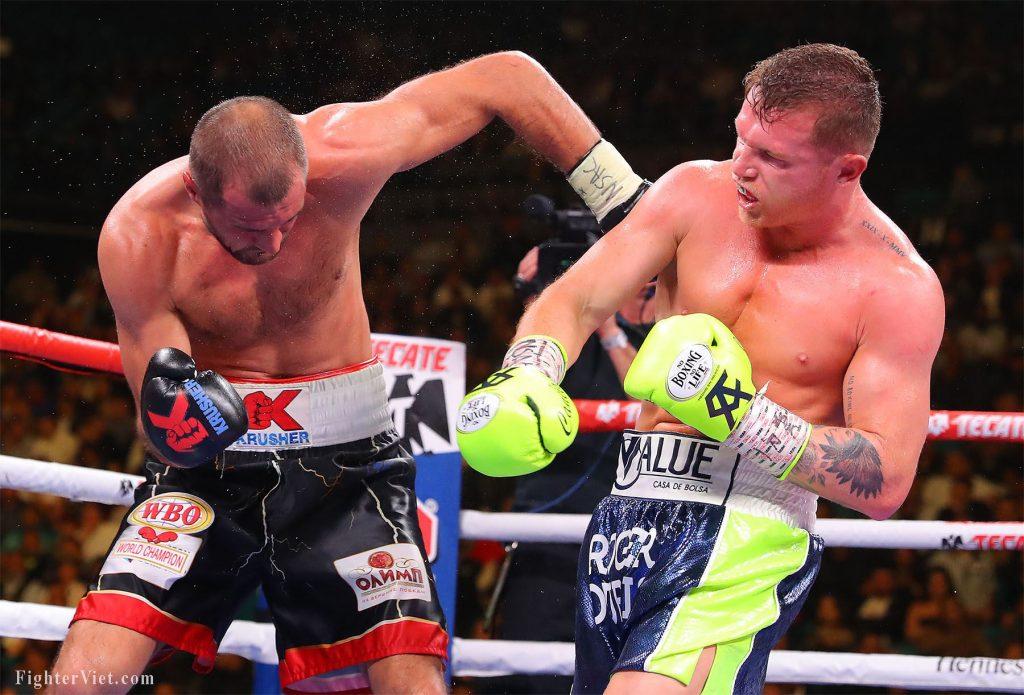 Bộ ảnh về trận đấu kinh điển Canelo vs Kovalev