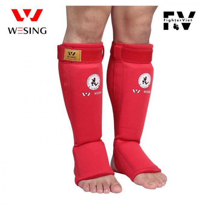 Giáp bảo vệ chân Muay Thái Wesing Bọc Ống Đồng Võ Thuật Cao Cấp -Shin Guards