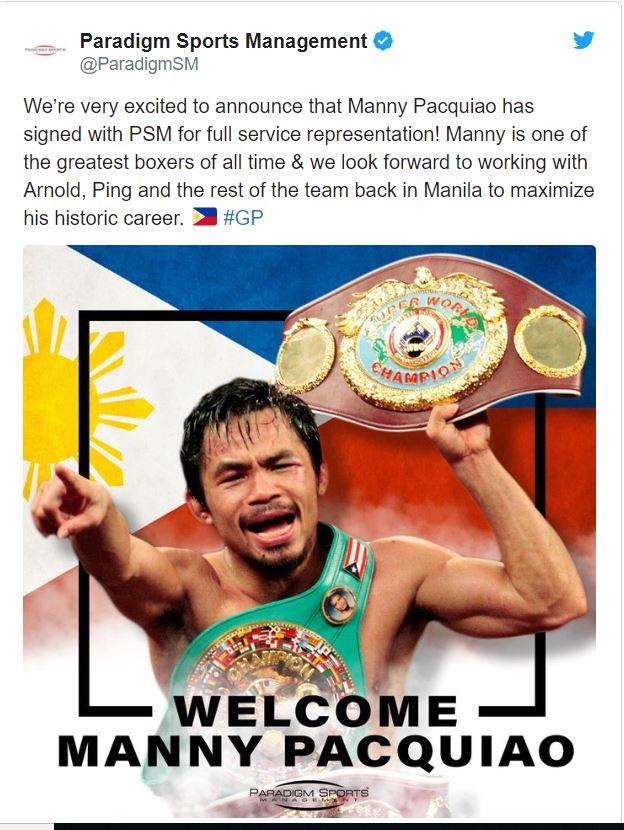 Manny Pacquiao ký hợp đồng