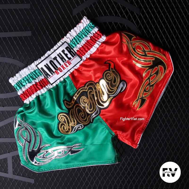 Quần Muay Thái Another Boxer Xanh Đỏ