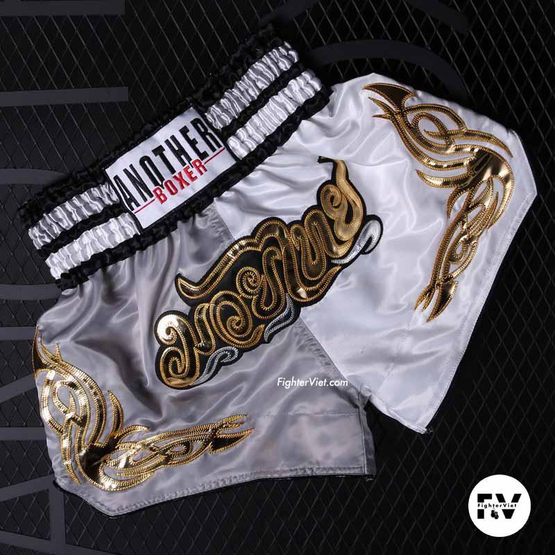 Quần Muay Thái Another Boxer Xám Trắng