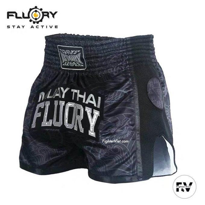 Quần Muay Thai Fluory Đen