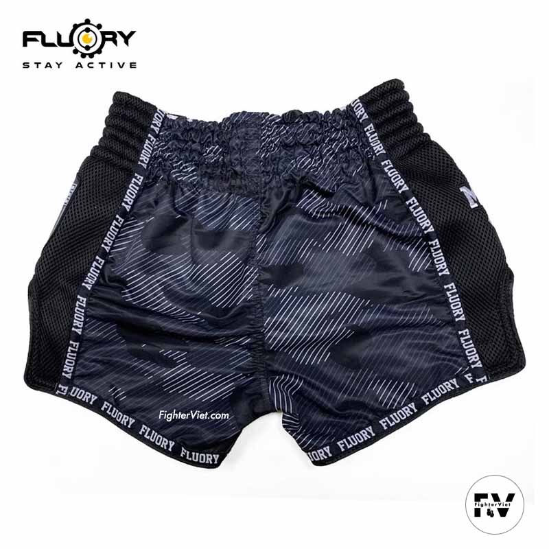 Quần Muay Fluory Special Đen Tiger