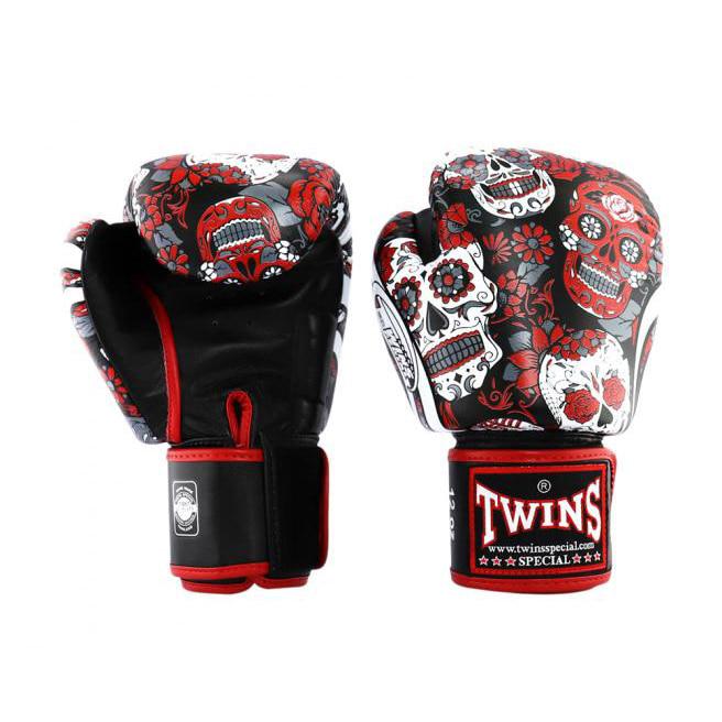 Găng Tay Twins FBGVL3-53 Los Muertes Boxing Gloves - Đỏ