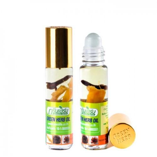 Dầu nóng dạng lăn Green Herb Oil Thái Lan