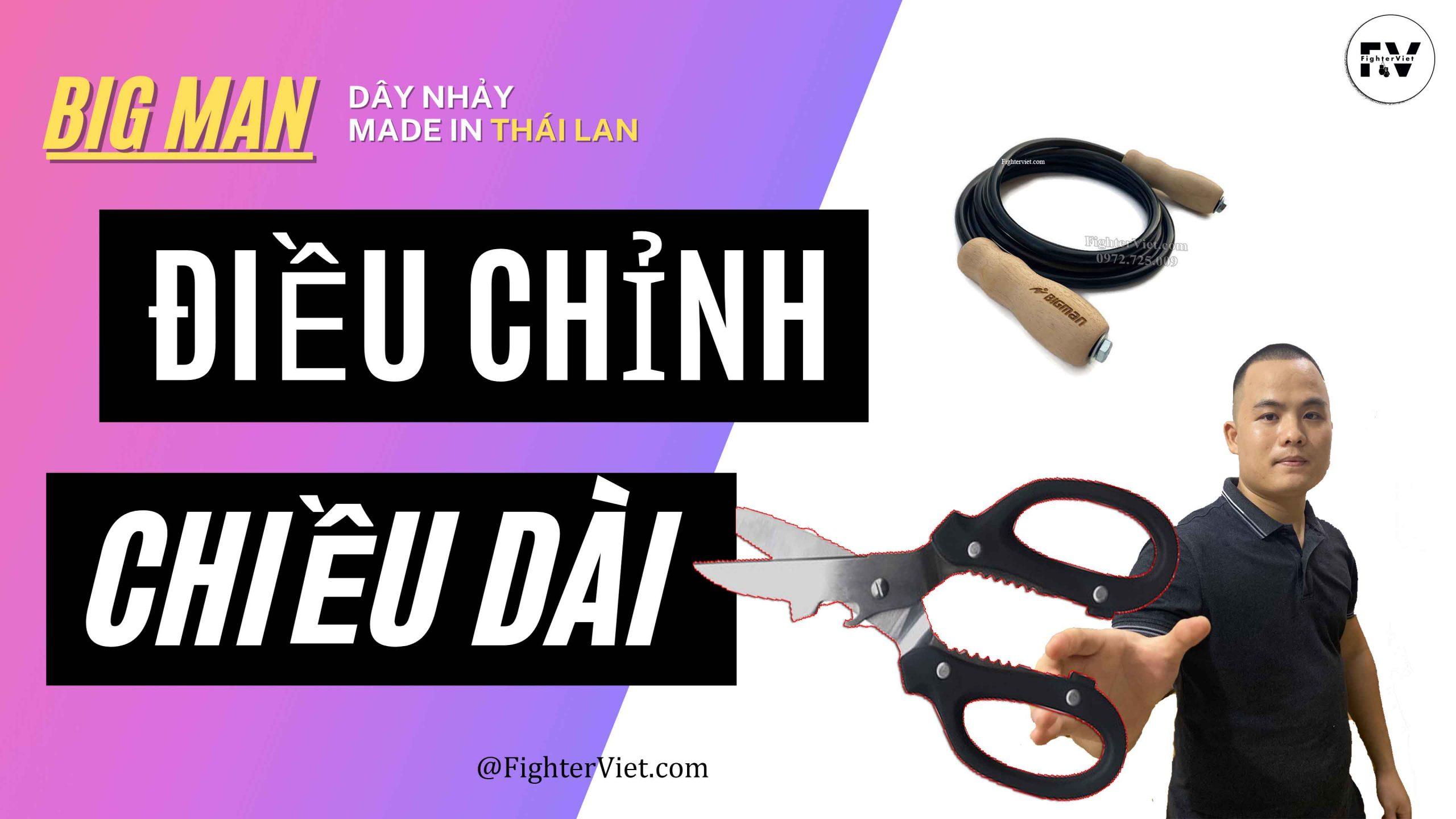 Hướng dẫn điều chỉnh chiều dài dây nhảy BigMan Thái Lan
