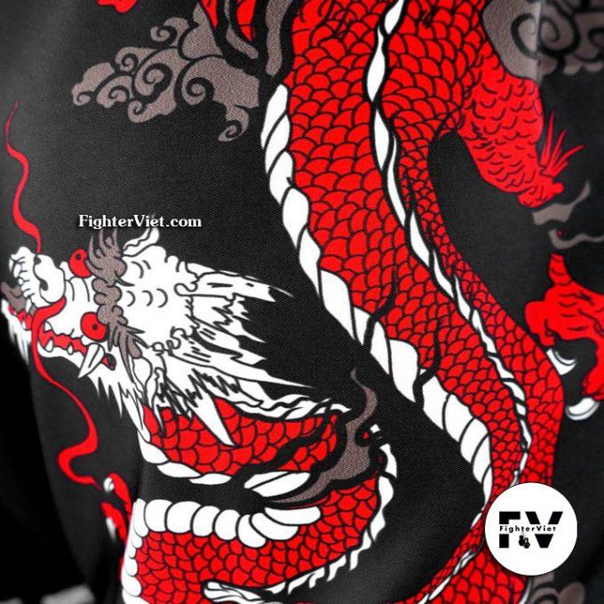 Quần Muay Thái Black Chinese Dragon TUFF