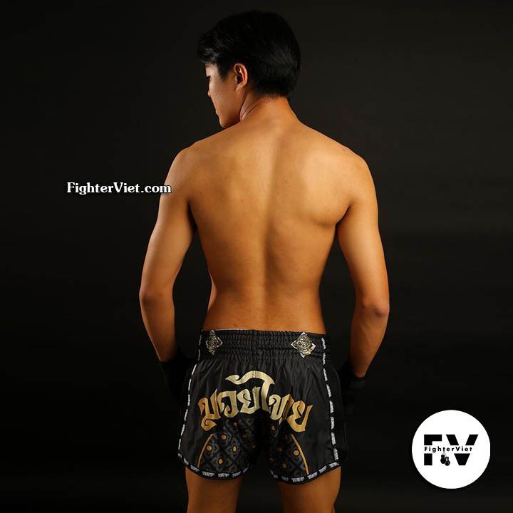 Quần Muay Thái Black Singha Yantra TUFF