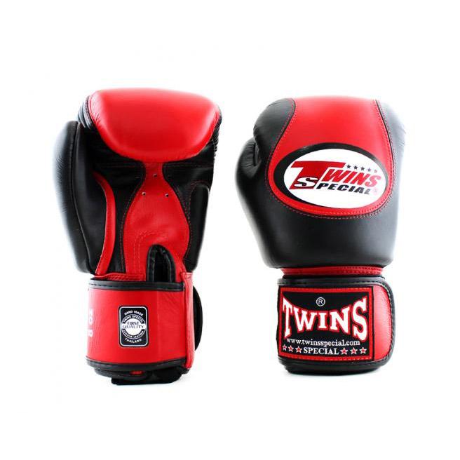 Găng Tay Twins BGVL9 Boxing Gloves Velcro - Đỏ Đen
