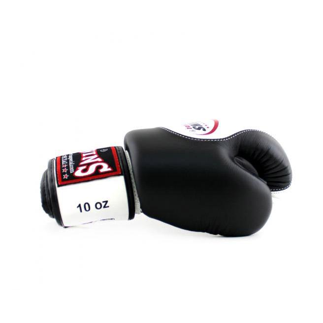 Găng Tay Twins BGVL9 Boxing Gloves Velcro - Trắng Đen